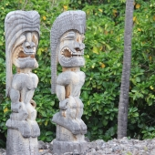 Wooden Statues at Pu'uhonua O'Honaunau