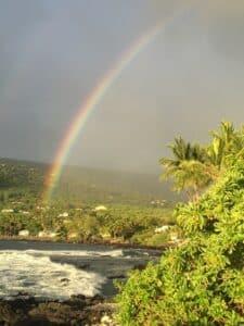 Rainbow Over Village